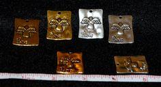 Qty 10 Angel and Love Rectangle Pendant Charm by SoRRoGlass $4.00 #DIY #SoRRoGlass #JewelryMaking