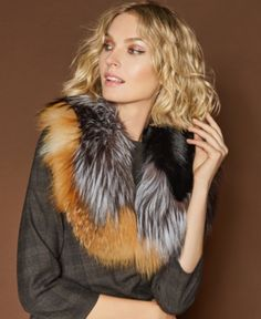 The Fur Vault Fox Fur Scarf - Scarves & Wraps - Handbags & Accessories - Macy's Fur Clothing, Wedding Wear, Ladies Boutique, Fox Fur, Handbag Accessories, Scarf Wrap, Fur Coat, Beauty, Scarves
