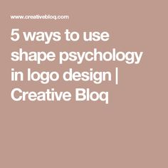 5 ways to use shape psychology in logo design   Creative Bloq