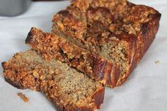 Paleo Coffee Cake Banana Bread - Amazing moist paleo banana bread recipe with a cinnamon streusel topping. I ate this entire loaf in less time than I'm willing to admit.