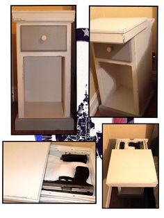 Hidden compartment Nightstand/End Table Weapon Storage, Gun Storage, Hidden Compartments, Secret Compartment, Secret Storage, Hidden Storage, Hidden Spaces, Secret Rooms, Home Defense