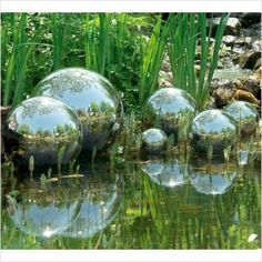 Blomus - Polished Bola Garden Globe Set - $17.18