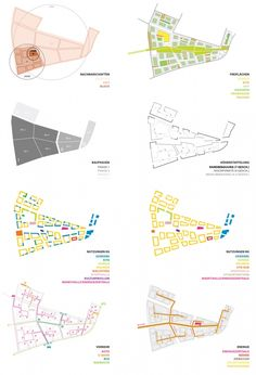 Octagon Architekturkollektiv / Entwürfe / SQB Landscape Architecture Model, Conceptual Architecture, Architecture Concept Diagram, Landscape Architecture Drawing, Architecture Portfolio, Urban Design Concept, Urban Design Diagram, Urbane Analyse, Landscape Diagram