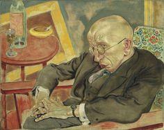 "George Grosz (American, born Germany. 1893–1959). The Poet Max Herrmann-Neisse, 1927, Oil on canvas, 23 3/8 x 29 1/8"" (59.4 x 74 cm), MoMA."
