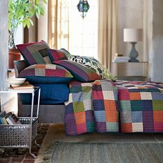 Company Cotton Stripe Dog Bed Cover | Spring Lookbook | Pinterest ... : the company store quilts - Adamdwight.com