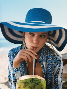 "Léa Seydoux in ""Hat Trick"" / Photographed by Angelo Pennetta / Styled by Sara Moonves, for Vogue US June 2015"