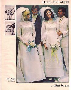 Weddingzilla: Vintage Retro Wedding Dress Photos Bride's Spring 1970
