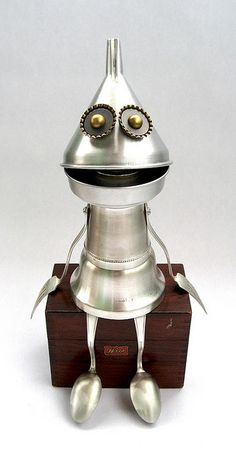 Weis - Found Object Robot Assemblage Sculpture By Brian Marshall by adopt-a-bot, via Flickr