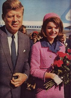 Jackie  President after landing in Dallas on that awful day in 1963