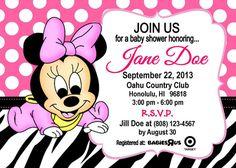 Invitación para baby shower de Minnie - Imagui
