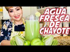 Agua Fresca de Chayote - YouTube Fresco, Voss Bottle, Water Bottle, Beverages, Drinks, Cucumber, Diabetes, Health Fitness, Kiwi