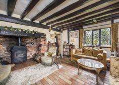 Dream homes – Cosy living rooms - David Burr #livingroom #logburner