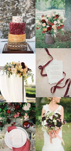 Burgundy, Gold, and Peach Wedding Inspiration — A Splendid Occasion