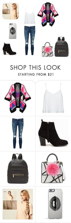 """""""Outfit of the day Day2"""" by glitterbunny16 ❤ liked on Polyvore featuring WithChic, Alice + Olivia, rag & bone/JEAN, Nly Shoes, Deux Lux, Les Petits Joueurs, Hershesons, Lipsy, women's clothing and women's fashion"""