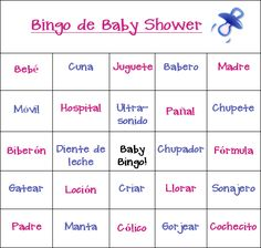 25 Awesome Spanish Baby Shower Games Party Supplies Images Baby
