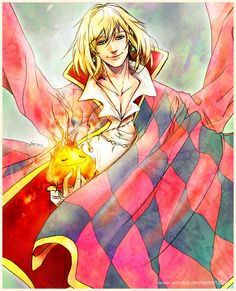 Howl's Moving Castle. Love that version of Calcifer.