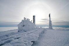 Spend the night at the Mt. Washington Observatory on our winter climb trip.