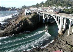 Depoe Bay bills itself as the smallest port in the world.