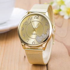 Fashion montre femme 2015 relogio geneva Watch Women Classic Gold Quartz Watch Stainless Steel Full Steel Wristwatch //Price: $15.99 & FREE Shipping //     #decor #design
