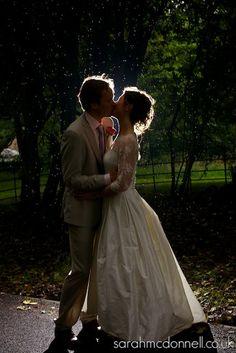Outdoor evening wedding pics