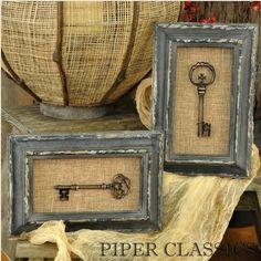 Chaves antigas, ou mesmo réplicas, uma ideia de objeto para compor o estilo vintage e shabby chic!