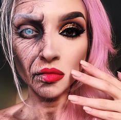 Scary Makeup, Sfx Makeup, Costume Makeup, Makeup Art, Makeup Ideas, Amazing Halloween Makeup, Halloween Looks, Halloween Face Makeup, Horror Make-up