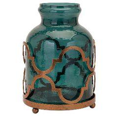 "16.75"" Hargrove Small Metallic Top Vase"