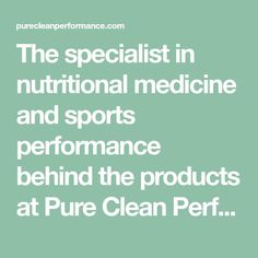 The specialist in nutritional medicine and sports performance behind the products at Pure Clean Performance - Richard Cohen, M.D   #sportsnutrition #performance #endurance #athletes #running #cycling #marathon #triathlon