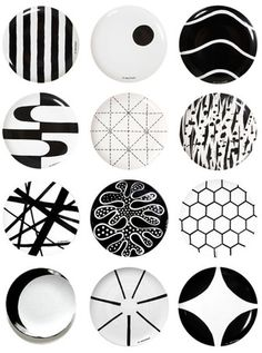 Plates with pattern from Swedish 10-Gruppen/Ten Swedish Designers.