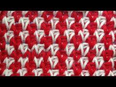 Жакардовые узоры вязания Tunisian crochet pattern 34 - YouTube