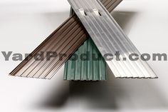 Different colors of the PRO aluminum edging available....brown, green and mill.  Ships free in North America. Order yours today from YardProduct.com!