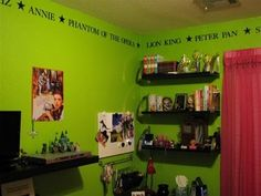 Broadway themed room on pinterest playbill display for Broadway themed bedroom ideas