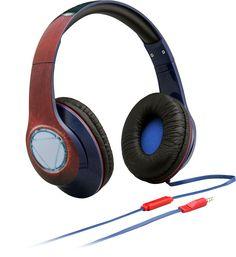 eKids - Captain America On-Ear Headphones - Red, Blue, 092298926827