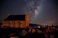 Night Sky of Lake Tekapo, New Zealand by UCLAPD on Flickr.