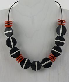 Vera Versatile Necklace by Klara Borbas: Polymer Clay Necklace available at www.artfulhome.com
