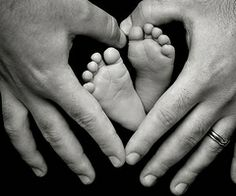 Oh...love this.  Try with one hand Dad's & the other hand Mom's--guess Charis would have to take it...