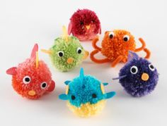 how to make yarn puff ball animals - Google Search
