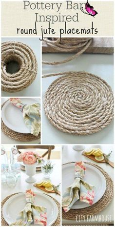 10 DIY Farmhouse Decor That Are Super Cheap and Easy Super Easy and Cheap DIY Farmhouse Decor Ideas for Your Home | Pottery Barn Inspired Round Jute Placemats and others! #DIY DIY home decor #homedecor #home #farmhousestyle<br> Cute Dorm Rooms, Cool Rooms, Farmhouse Side Table, Farmhouse Decor, Farmhouse Style, Farmhouse Rugs, Farmhouse Kitchens, Farmhouse Plans, Modern Farmhouse