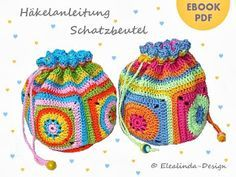 Crocheted Granny Square pouch crochet and sewing pattern, photo tutorial PDF Crochet Pouch, Crochet Purses, Knit Or Crochet, Double Crochet, Crochet Hooks, Crochet Blankets, Granny Square Bag, Granny Square Crochet Pattern, Crochet Granny