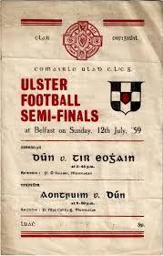 Ulster SF semi-final 1959 - Down v Tyrone Semi Final, Ireland, Posters, Bar, Sport, Deporte, Sports, Poster, Irish