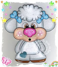 EL BAÚL DE BERTHA - MANUALIDADES: Borreguito Corazón en Foamy ó Goma Eva - Aplique Foam Crafts, Diy And Crafts, Crafts For Kids, Paper Crafts, Easter Paintings, Free Adult Coloring, Crochet Flower Tutorial, Cartoon Profile Pics, Kawaii Doodles