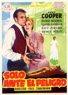 """""""Solo Ante El Peligro"""" con Gary Cooper y Grace Kelly."""