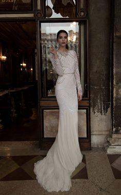 Long Sleeved Inbal Dror Wedding Dress 2015 - Deer Pearl Flowers