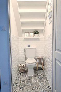 Bathroom Under Stairs, Toilet Under Stairs, Morrocan Bathroom, Understairs Toilet, Small Toilet Room, Bathroom Dimensions, Mexican Home Decor, Bathroom Interior, Bathroom Ideas