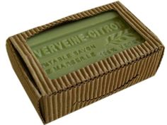 Lemon Verbena French Soap Delicious Lemon- Verbena Soap moiturize your skin while enjoying the fresh aroma of citrus. Made of 75% Oilive Oil and 25% Shea Butter. Made in France