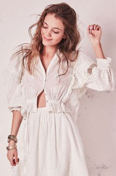 Loveshackfancy Dylan Top - S Ivory Bohemian Tops, Pretty Outfits, Beautiful Outfits, Moda Boho, Date Night Dresses, Love Fashion, Ladies Fashion, Tulle Dress, Dress Me Up