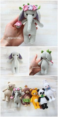 Here we have shared a grand list of free crochet amigurumi patterns that all makes perfect cuddly toys and can also be used as best lovey to your babies!Crochet Cuddle me Elephant Free Crochet Amigurumi Patterns Maria Pink Amigurumi K Crochet Animal Patterns, Crochet Doll Pattern, Crochet Patterns Amigurumi, Crochet Dolls, Crochet Stitches, Amigurumi Toys, Crochet Lovey, Baby Girl Crochet, Cute Crochet
