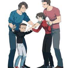 Grayson and Jason making tim and Damian hug is da funniest thing ever Nightwing, Batgirl, Catwoman, Damian Wayne, Wayne Family, Bat Family, Tim Drake, Jason Todd, Red Hood