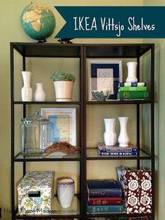 Home Made Modern: Styled IKEA Vittsjo Shelves