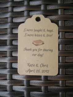 25 S'more Favor Tags / Wedding / Favors / Program / by HerkandRory, $8.00